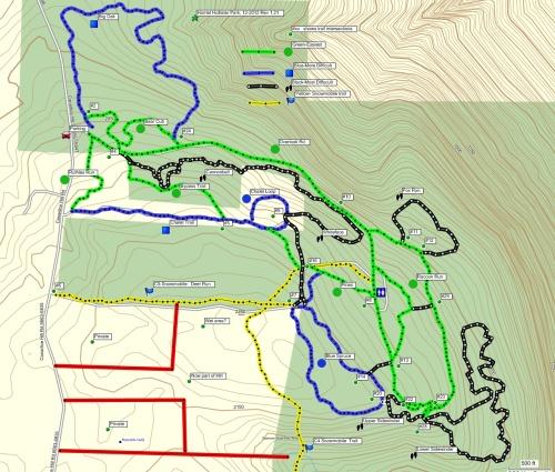Ski trails at Harriet Hollister Spencer State Recreation Area