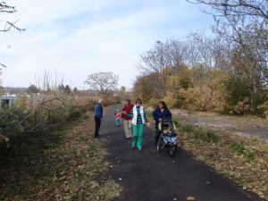 A family enjoys the Lackawanna Rail Trail.  Photo provided by Chemung River Friends.