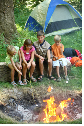 Family Camping In The Woods Fun Finger Lakes National Forest