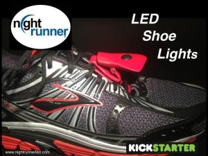 NightRunner LED shoe headlights for runners.