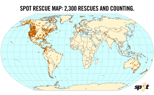 SPOT Rescue Map