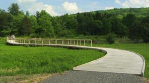 NEW Emerald Necklace boardwalk in Dresden NY.