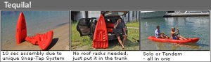 Point 65 Tequila! Tandem Modular Kayak